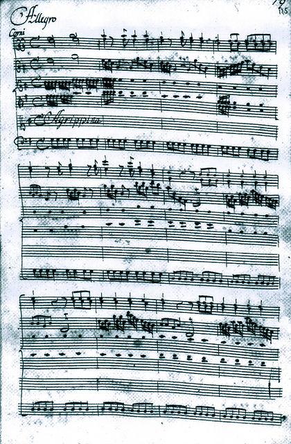 Baroque opera manuscripts and modern editions