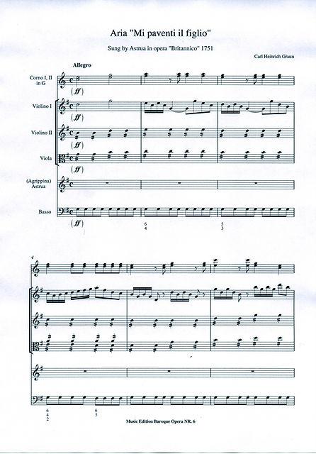 Barock Opern Manuskripte und moderne Editionen