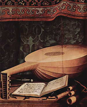 Arias wit plucked instrumnts Laute Tiorba Mandoline