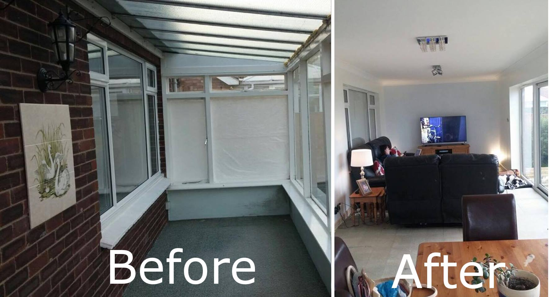 Extension Before & After