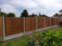 Wooden garden fencing in Clacton