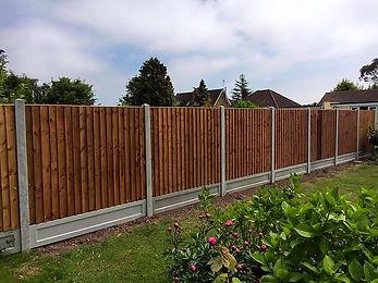 Wooden garden fencing in Clacton