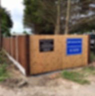 Allscapes Fencing Ltd's sign placed on wooden fencing, which they fitted themselves