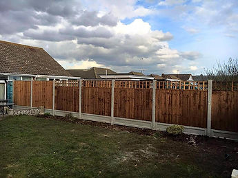 Outdoor fencing adding privacy and security to a garden in Clacton