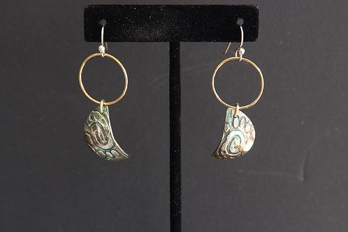 Angel Wings on Gold Earrings