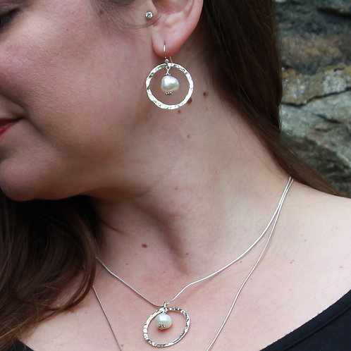 Floating Freshwater Pearl Earrings