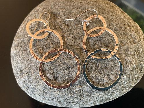 Silver Waterfall Earrings