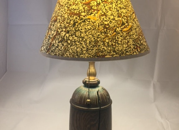Hand turned lamp