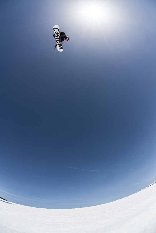 Carlos ripping a switch backside spin at Breckenridge a few years back