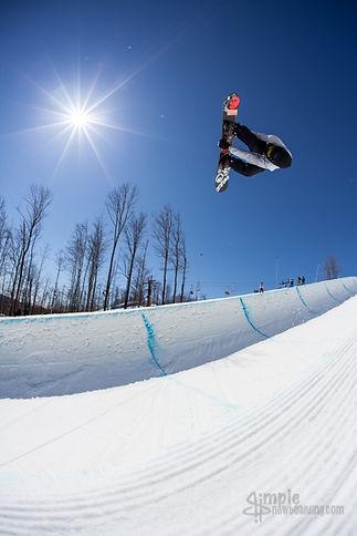 senders society snowboarding camp and coaching andy stewart halfpipe grab