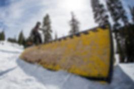 senders society snowboarding coach sam marcotte northstar grind on rail