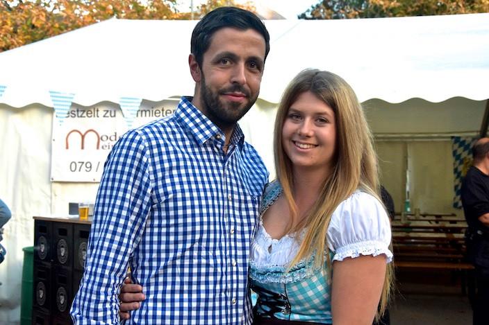 Rolf und Andrea Nägeli besuchen regelmässig verschiedene Oktoberfeste und freuten sich sehr, dass sie heute einen Heimvorteil hatten und nicht so weit anreisen mussten.
