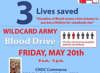 Wildcard Army Blood Drive 05/20/16