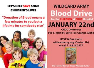 Wildcard Army Blood Drive 01/22/16