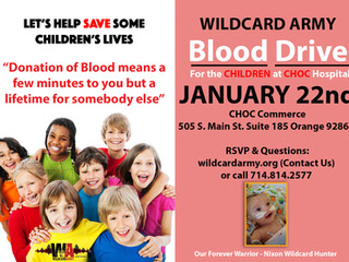 Wildcard Army Blood Drive 01/22/16