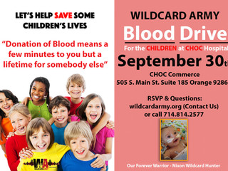 Wildcard Army Blood Drive 09/30/16