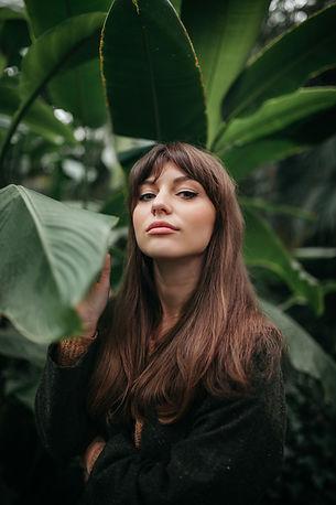 Posing in Tropical Garden