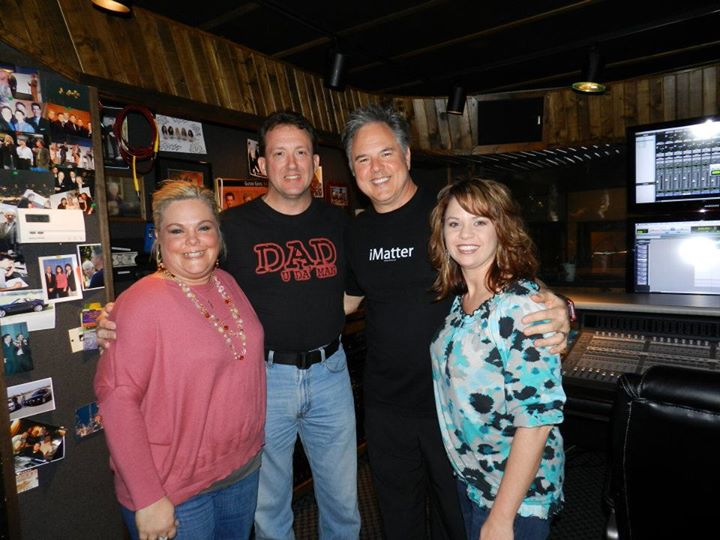 Kelly, Jeff, Wesley Pritchard, and me at the studio