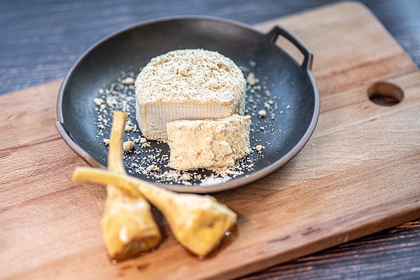 גבינת קשיו חצי קשה - ארטישוק א-לה רומנה ופרמז'ן