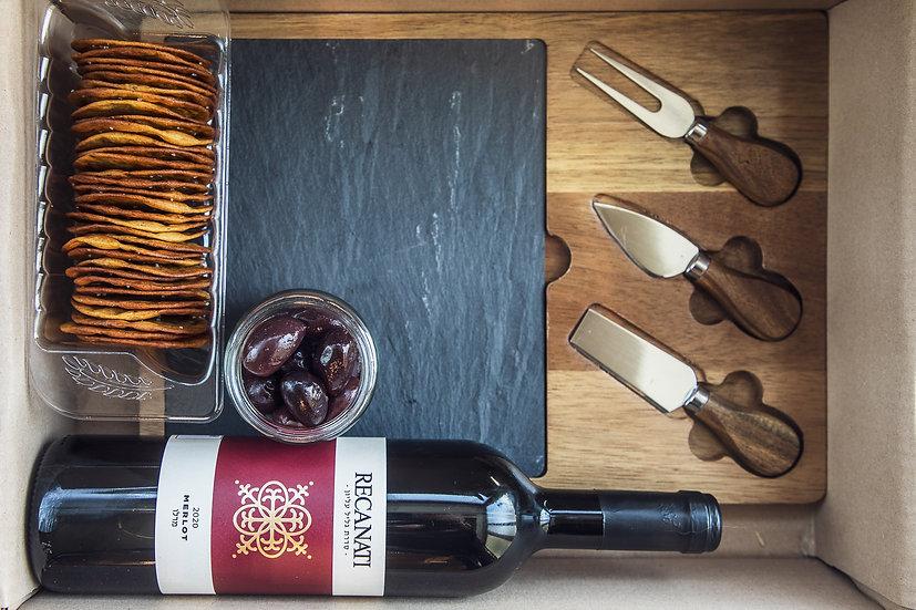 ערכת פלטת גבינות ויין - מארז מתנה