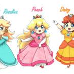 Princesses Peach Daisy & Harmonie (Mario)