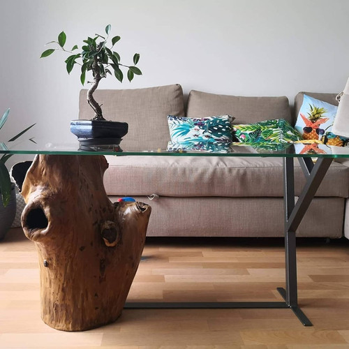 table basse bois/metal