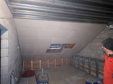 isolation et placage des plafonds