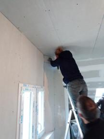 isolation et placage des murs
