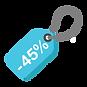 45% descuento