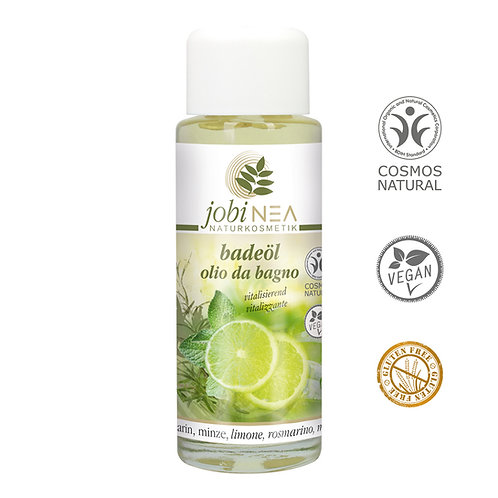 Bath oil with lime, rosemary and green mint