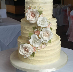 Buttercream and sugar flowers