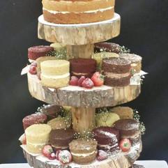 Naked mini cake tower