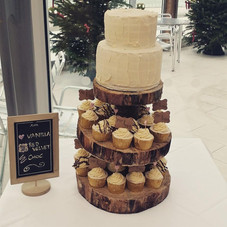 Rustic with cupcakes