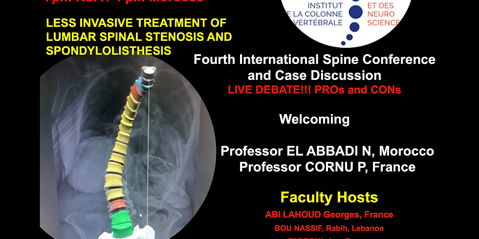 Fourth International Spine Conference and Case Discussion