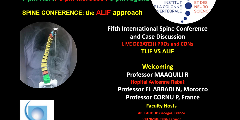 Fifth International Spine Conference and Case Discussion