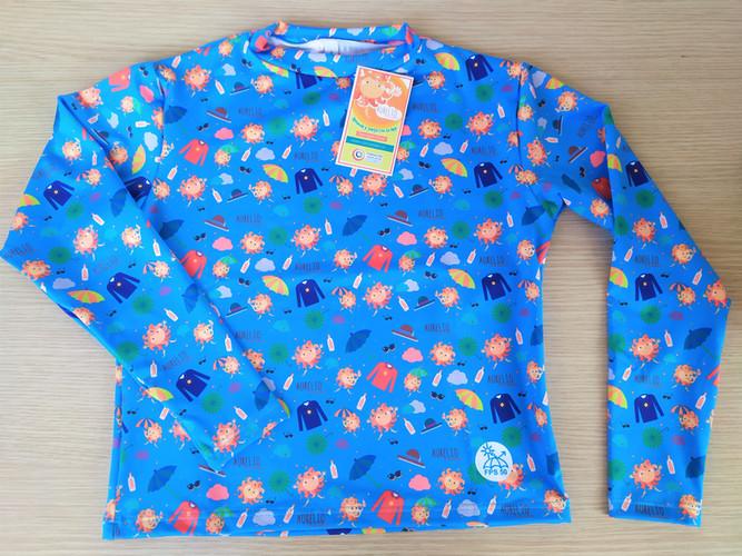 Camiseta manga larga - Azul