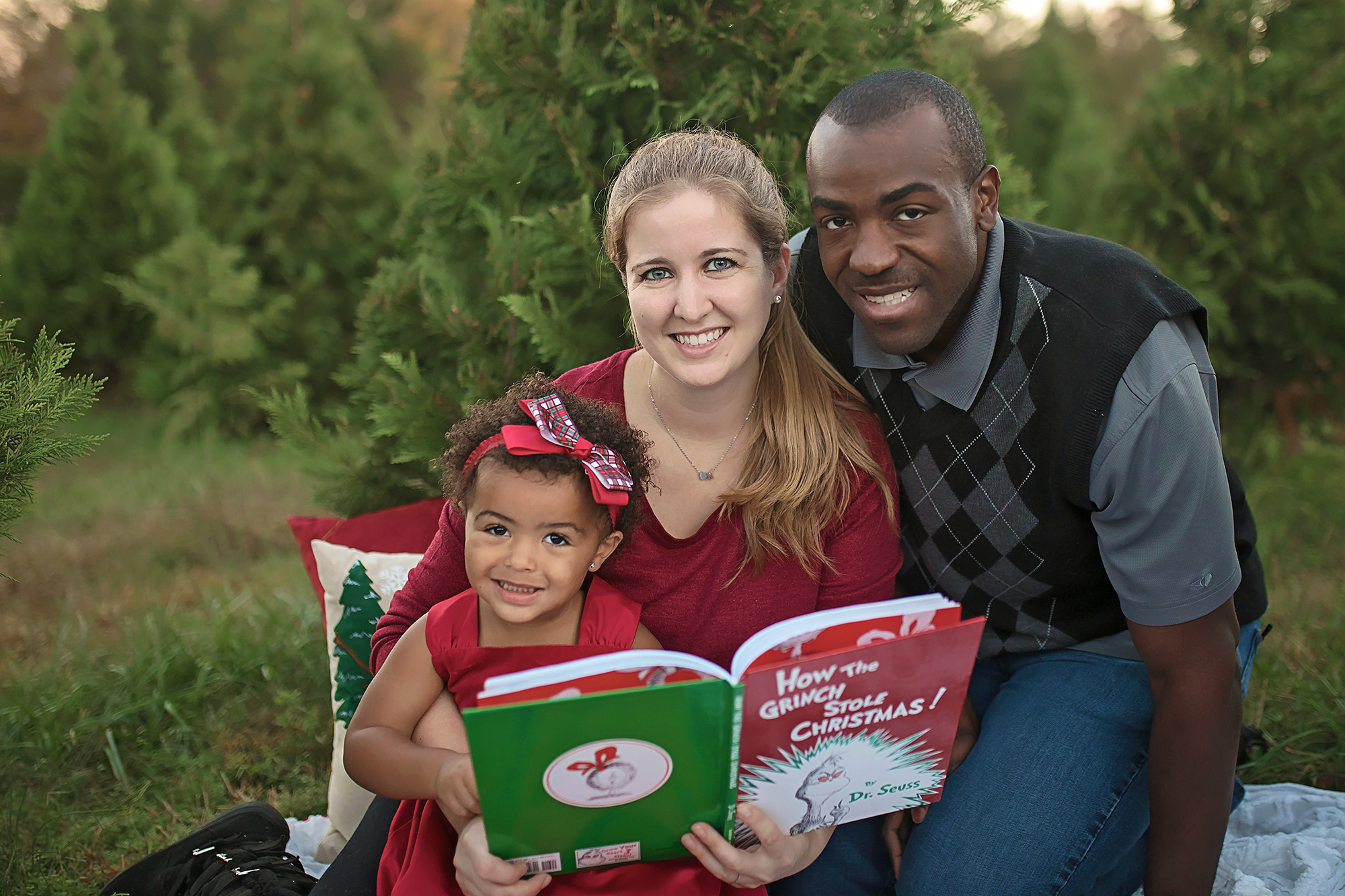 Christmas tree farm mini session