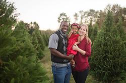 Christmas tree farm mini session