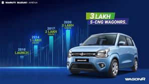 MARUTI SUZUKI 'S WAGON R CNG SALES PASS THE 3 LAKH MARK | CARS NEWS | AUTO REPORTER