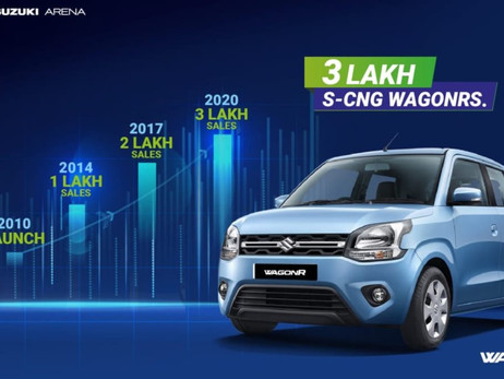 MARUTI SUZUKI 'S WAGON R CNG SALES PASS THE 3 LAKH MARK | CARS NEWS | AUTO REPORTER