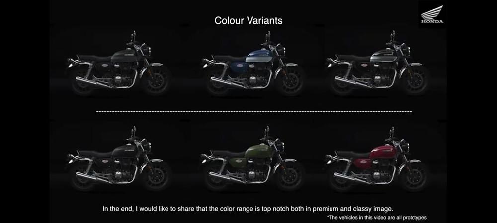 Color variants of  Honda H'ness CB 350 | BIKE NEWS AUTOREPORTER