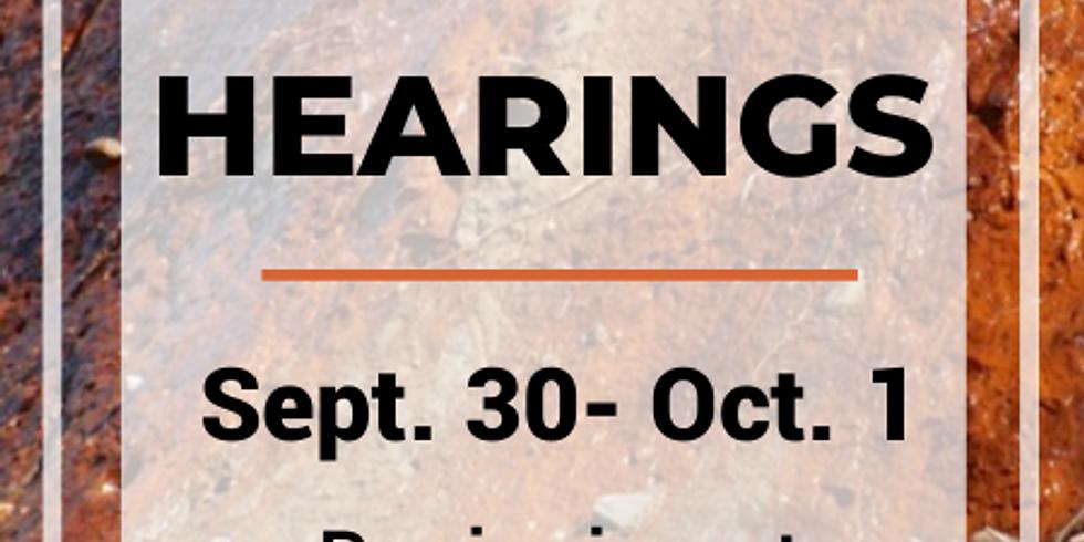 Coal Ash Hearings