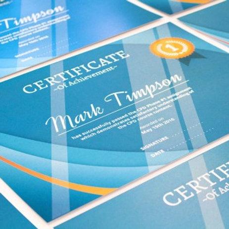 25 Certificates*