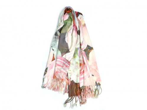 Your print on a wide scarf