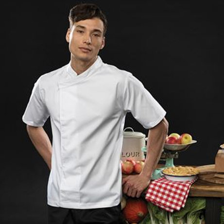 PR668 Culinary pull-on chef's short sleeve tunic