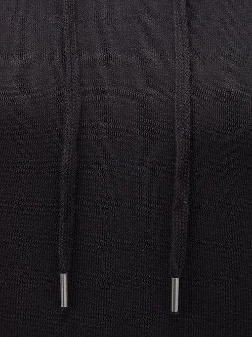 Ladies Soft touch personalised Hoodie BLACK