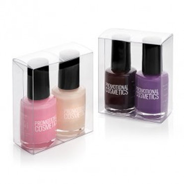 Set of 2 Nail Varinishes in a clear box