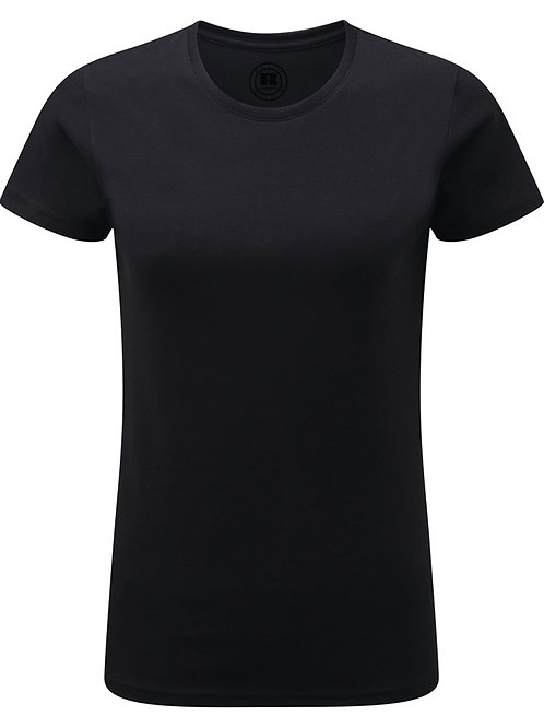Ladies Soft touch personalised tee shirt BLACK