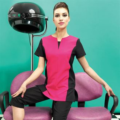 PR684 Peony beauty and spa panelled tunic