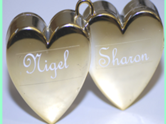 Personalised Double Heart Weight (6)
